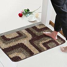 (Tür, Bad, Küche) rutschfeste Matte, Fußmatte, Matte, einfach und modern und 60*90 Cmb
