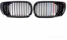 [Versand kostenlos] Front glänzend schwarz m-couleur Niere Gitter Grill für BMW 3series 02–05//Front Gloss Black m-color Kidney Gitter Grill For BMW 3series 02–05