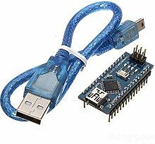 [Versand kostenlos] W900ATmega328P Arduino kompatibel Nano V3Version mit Kabel USB verbessert//W900ATmega328P Arduino kompatibel Nano V3Improved version with USB Cable