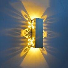 & Wandleuchten Aluminium Led Licht Fixture Up Und Down Led Wandleuchte 2W Batteryfly Modern Fashion Wandleuchte Indoor ( Farbe : Gelbes Licht-2W )