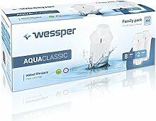 ✧WESSPER® AquaClassic Original Wasserfilter kartusche / Filterkartuschen / die Kartusche (Compassibel mit Brita Classic, Dafi Classic, Aquaphor B100-15 Standard, AmazonBasics, PearlCo Classic, BWT Universal, ANNA MONOMAX, ANNA/BWT Vitalis, Aqua Optima Universal Cls302 Cls916, LAICA CLASSIC F0A3, Aqua Crest AQK-06, FILTER LOGIC FL-601G) 10 Stück