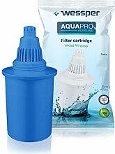 ✧WESSPER® Ersatz-Wasserfilterkartusche für PureAire alkalische Wasserfilter-Kanne (kompatibel mit Wessper Aquapro) 300L, 2,5 Monate - blau