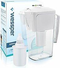 ✧WESSPER® Wasserfilter, Kanne, Krug, Wasserkrug, Universal Kanne (kompatibel mit Aquaphore Amethyst) 2,5L - White