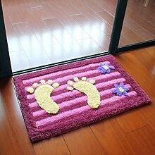 #Wohnzimmer Teppich Matten Matratzen Badezimmer Anti - Rutschmatte Haushalt Foyer Küche Pads Matten ( größe : 80*120cm )