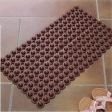 #Wohnzimmer Teppich Pvc Umweltschutz Badematten Große Badezimmer-Matte Fußmatte Fußmatte Fußmatte nehmen eine Dusche mit einer Dusche-Matte Matten ( Farbe : Braun , größe : 45*77cm )
