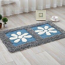 #Wohnzimmer Teppich Teppich Chenille Matten Fußmatte Badezimmer Wohnzimmer Matte Rutschfeste Matte Matten ( Farbe : 1# , größe : 45*70cm )