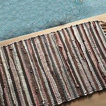 #Wohnzimmerteppich Handgewebte Matten Schlafzimmer Wohnzimmer Mat Promenade Tür Rub Rub Pad Küche Bad Mat Decken ( Farbe : 5# , größe : 70*120cm )