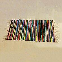 #Wohnzimmerteppich National Wind Pad Handgefertigte bunte Stoff Mats Wasserdichte Tür Matte Baumwolle Teppich Matten Decken ( größe : 50*120cm )