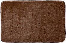 #Wohnzimmerteppich Soft Anti-Rutsch-Teppich Wohnzimmer Schlafzimmer Shaggy Teppich Decken ( Farbe : Braun , größe : 60*40cm )