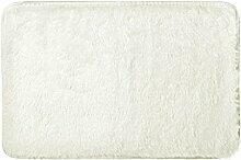 #Wohnzimmerteppich Soft Anti-Rutsch-Teppich Wohnzimmer Schlafzimmer Shaggy Teppich Decken ( Farbe : Weiß , größe : 60*40cm )