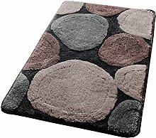 #Wohnzimmerteppich Teppich Fußmatte Fußauflage Matte Badezimmer Badezimmer Anti-Rutsch Mat Hall Home Die Tür-Pad Stein Muster Decken ( größe : 40*60cm )