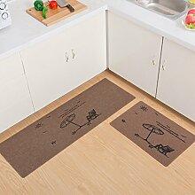 #Wohnzimmerteppich Tür / Eingang / Schlafzimmer / Küche Bodenmatten rutschfest Decken ( Farbe : B , größe : 40*60cm+40*120cm )