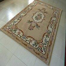 [Wolle handgefertigter Teppiche]/Camel Wohnzimmerteppich/die Halle/Couchtisch Teppiche/ Sofa-Teppich-A 160x230cm(63x91inch)