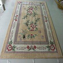 [Wolle handgefertigter Teppiche]/Chinesischen Stil Wohnzimmerteppich/Couchtisch Sofa Halle Teppich-B 160x230cm(63x91inch)