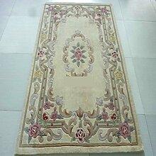 [Wolle handgefertigter Teppiche]/[Verdickte Wohnzimmerteppich]/die Halle/Couchtisch Teppiche/ Sofa-Teppich-B 140x200cm(55x79inch)