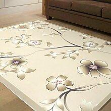 [Wolle und Seide handgefertigte Teppiche]/Schnittblumen Couchtisch Sofa Wohnzimmer Schlafzimmer Teppich und Wolle und Seide Teppiche-H 160x230cm(63x91inch)