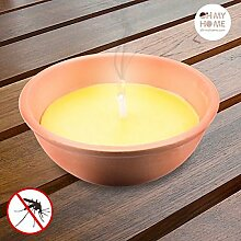 0 13 cm Citronella Kerze im Terrakotta-Topf