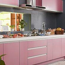0.61x5M(BxL) Rosa Küchenschränke Aufkleber PVC Selbstklebend Küchenfolie Möbelfolie Klebefolie Schrankfolie Deko Tapeten