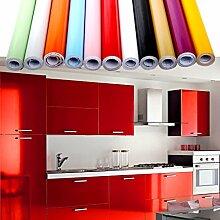 0.61x5M(BxL) Rot Küchenschränke Aufkleber PVC Selbstklebend Küchenfolie Möbelfolie Klebefolie Schrankfolie Deko Tapeten