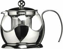 0,75 L Teekanne aus Glas und Edelstahl