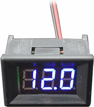 0,9 cm LCD Panel Meter mit Zweiadriges DC 5 30 V Blau LED Digital Voltmeter
