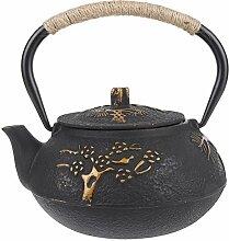 0,9L Asiatische Teekanne Teekessel aus Gusseisen,