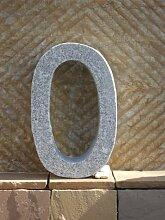 0 - Hausnummer aus echtem Granit 40 cm hoch - Für