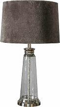 04-endon - Winslet Glaslampe Tisch, gehämmert
