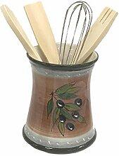 045006 Küchenutensilienhalter, Keramik, mit
