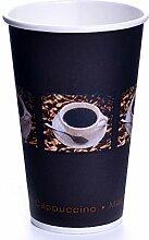 1.000 x Coffee-to-go-papierbecher 33 cl bean