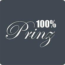 1 100% Prinz-Aufkleber zur Dekoration von Wänden, Glasprodukten, Fliesen und allen anderen glatten Oberflächen