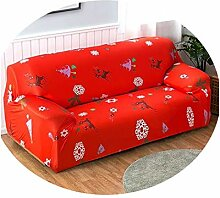 1/2/3/4 Seat Printed Sofa Cover Flexible Stretch