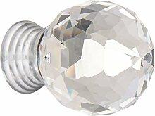 1.2-inch Faux Kristall Griff Schrank Schublade Tür Pull Ball Knob 6PCS