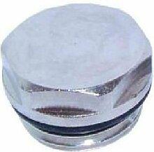 1/2 Stainless Steel Radiator & Towel Warmer Plug by Primaflow