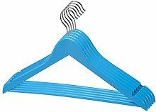 1 - 200 Stk. (30) qualitativ hochwertiger Designer Kleiderbügel in Blau aus Holz mit Hosensteg und Rockaufhängekerben mit 360 Grad drehbarem Harken Garderobenbügel Holzbügel Hosenstange in einem sehr schönen Design