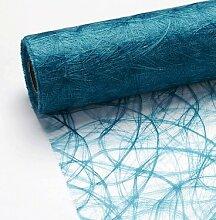 1,5 m x 30 cm Sizoweb® Vlies Original Tischband Tischläufer türkis blau Deko Floristik (4,63€/m)