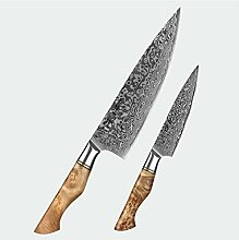 1-5 STÜCK Messer Set Damaskus Stahl Chef Santoku