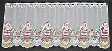 1,53 m breite Scheibengardine Weihnachten Nikolaus