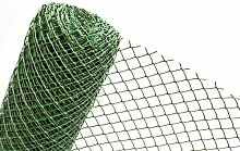 1,5m² MASCHENGEWEBE in 1,5m Breite Kunststoffzaun Hangbefestigung Gartenzaun Zaun aus Kunststoff Masche 50mm dunkelgrün (METERWARE) RO5/150HD