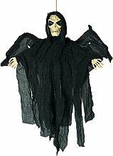 1,8FT schwarz Halloween Hängende Dekoration Horror Skelett im Bademantel Ostern Display Prop Fenster