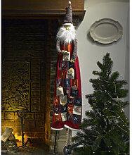 1,80 m großer Santa Claus-Adventskalender mit 24