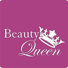 1 Beauty-Queen-Aufkleber zur Dekoration von