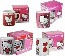 1 Becher Hello Kitty, Keramik, sortierte Motive