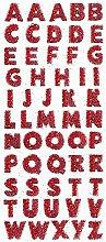 1 Blatt Glitzer-Buchstaben-Aufkleber,