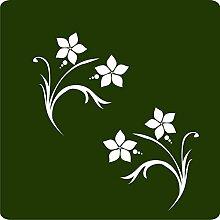1 Blumenranke-Aufkleber zur Dekoration von Wänden, Glasprodukten, Fliesen und allen anderen glatten Oberflächen