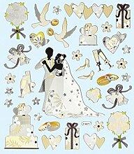 1 Bogen Hobby Design Sticker Hochzeit Aufkleber