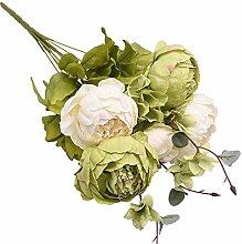 1 Bündel Seide Pfingstrouster Bouquet Dekoration