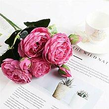 1 Bündel Silk Peony Bouquet Dekoration Zubehör