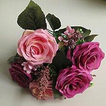 1 Bund Künstlich Blumen Rosen Künstliche Blumenstrauß Dekor #4