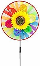 1Dekorative Garten Windmühlen, Sonnenblume